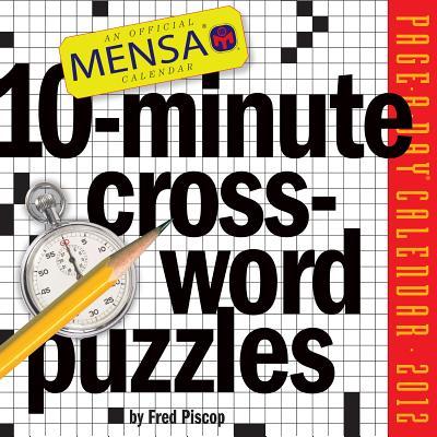 Mensa 10-Minute Crossword Puzzles 2012 Calendar Cover Image