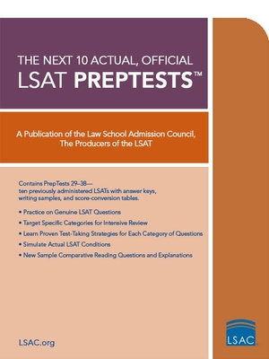 10 Next, Actual Official LSAT Preptests: (preptests 29-38) Cover Image