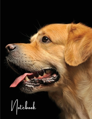 Notebook: Unlined - Unruled - Plain Notebook - 130 Pages - Large Format 8.5 x 11 in - Workbook - Composition - Golden Retriever Cover Image