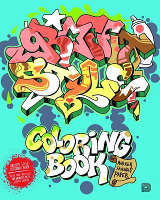 Graffiti Style Coloring Book Cover Image
