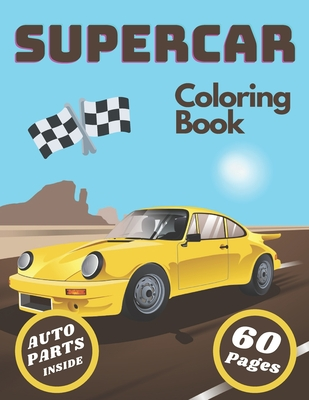 Supercar Coloring Book: Cars and Cars Part for Car Fun and Lover Cover Image