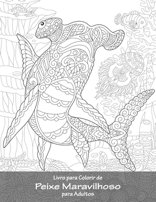 Livro para Colorir de Peixe Maravilhoso para Adultos Cover Image