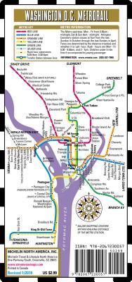 Streetwise Washington DC Metro Map - Laminated Metro Map of Washington, DC (Michelin Streetwise Maps) Cover Image