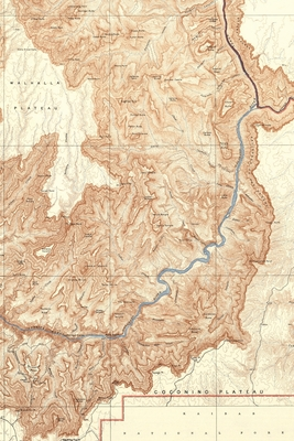 Cover for Grand Canyon Vintage Map Field Journal Notebook, 50 pages/25 sheets, 4x6
