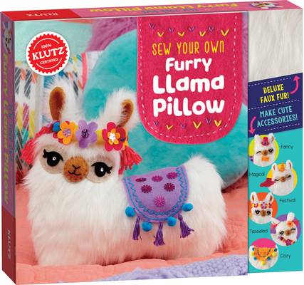 Sew Your Own Furry Llama Pillo Cover Image