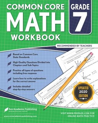 7th grade Math Workbook: CommonCore Math Workbook Cover Image