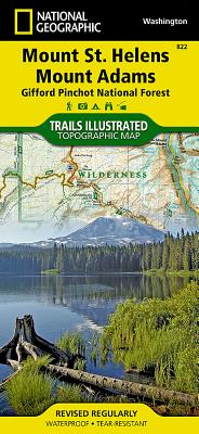 Mount St. Helens, Mount Adams [Gifford Pinchot National Forest] (National Geographic Trails Illustrated Map #822) Cover Image