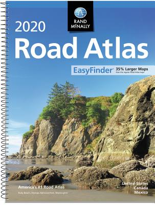 Rand McNally 2020 Road Atlas Midsize Easy Finder - Spiral Cover Image