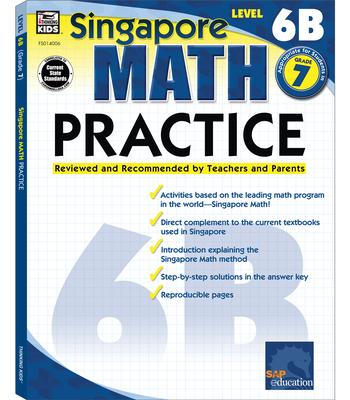Math Practice, Grade 7 (Singapore Math Practice) Cover Image