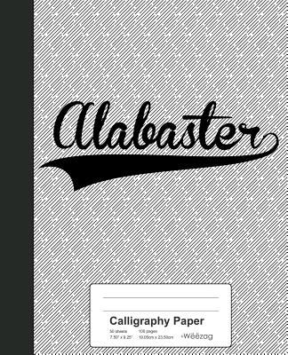 Calligraphy Paper: ALABASTER Notebook Cover Image