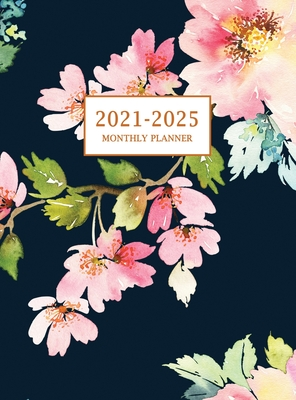 2021-2025 Monthly Planner Hardcover: Large Five Year Planner with Floral Cover (Volume 3) Cover Image