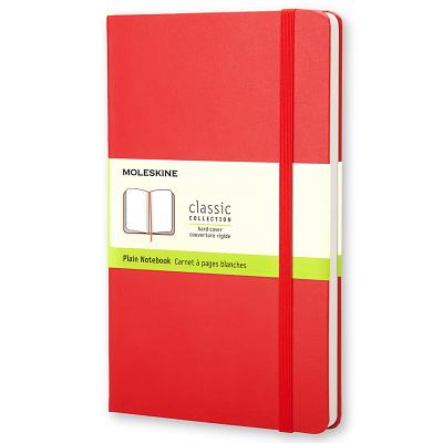 Moleskine Classic Notebook, Large, Plain, Red, Hard Cover (5 x 8.25) (Classic Notebooks) Cover Image