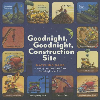 Goodnight, Goodnight, Construction Site Matching Game: (Matching Games for 2-4 Year Olds, Matching Games for Kids, Memory Matching Games) Cover Image