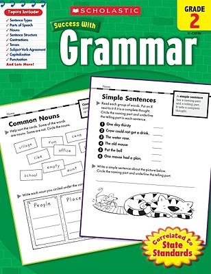 Scholastic Success With Grammar: Grade 2 Workbook Cover Image