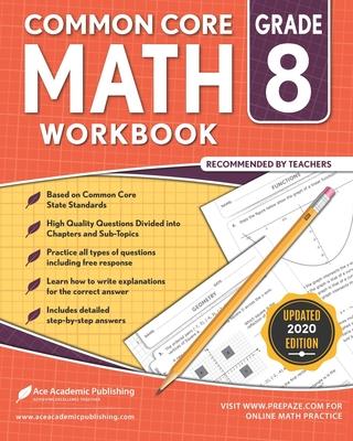 8th grade Math Workbook: CommonCore Math Workbook Cover Image