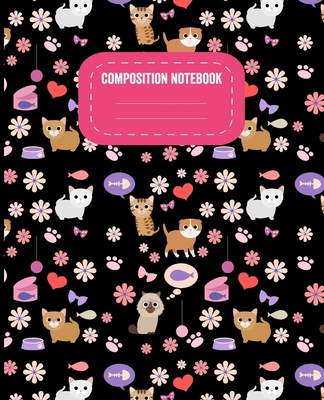 Composition Notebook: Puppies and Kittens Wide Ruled Composition Book Cover Image