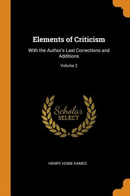 Cover for Elements of Criticism