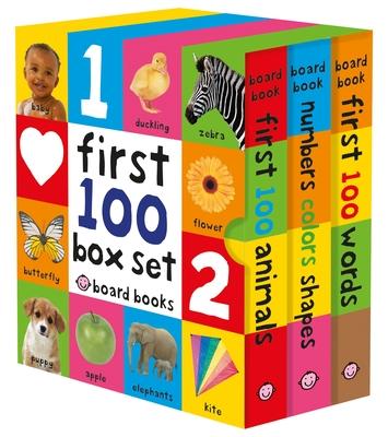 First 100 Board Book Box Set (3 books) Cover Image