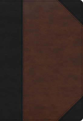 Cover for KJV Super Giant Print Reference Bible, Black/Brown LeatherTouch