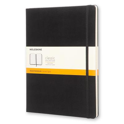 Moleskine Classic Notebook, Extra Large, Ruled, Black, Hard Cover (7.5 x 10) Cover Image
