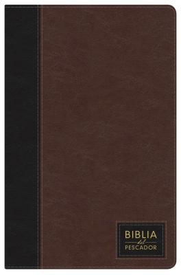 NTV Biblia del Pescador, siena oscuro símil piel de lujo con índice Cover Image