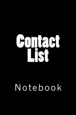 Contact List: Notebook Cover Image