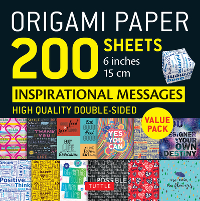 Origami Paper 200 Sheets Inspirational Messages 6