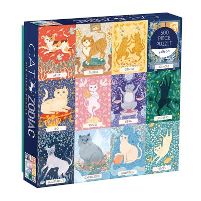 Cat Zodiac 500 Piece Puzzle Cover Image