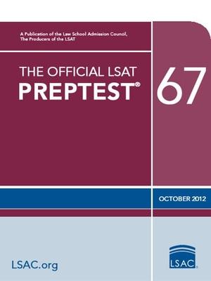 The Official LSAT Preptest 67: (oct. 2012 Lsat) Cover Image