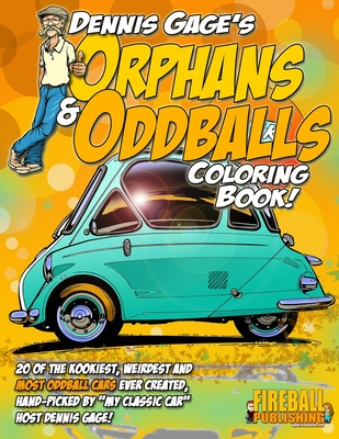 Dennis Gage's ORPHANS & ODDBALLS Coloring Book Cover Image