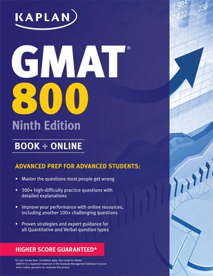 Kaplan GMAT 800: Advanced Prep for Advanced Students (Kaplan Test Prep) Cover Image