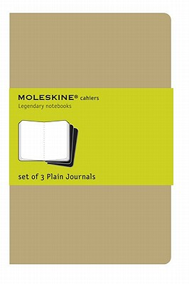 Moleskine Cahier Journal (Set of 3), Extra Large, Plain, Kraft Brown, Soft Cover (7.5 x 10) (Cahier Journals) Cover Image