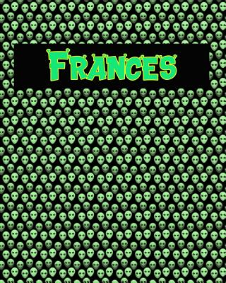 120 Page Handwriting Practice Book with Green Alien Cover Frances: Primary Grades Handwriting Book Cover Image