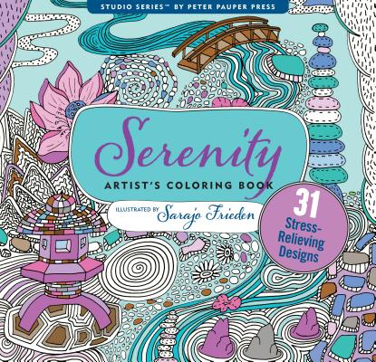 Serenity Adult Coloring Book Cover Image