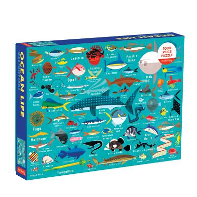Ocean Life 1000 Piece Family Puzzle Cover Image