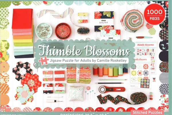 Thimble Blossoms Jigsaw Puzzle for Adults by Camille Roskelley: 1000 Pieces, Dimensions 28