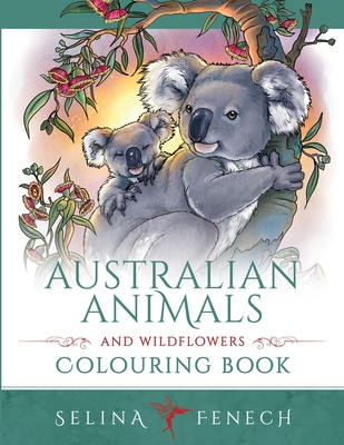 Australian Animals and Wildflowers Colouring Book Cover Image