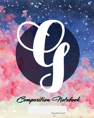 Composition Notebook: College Ruled - Initial G - Personalized Back to School Composition Book for Teachers, Students, Kids and Teens with M Cover Image
