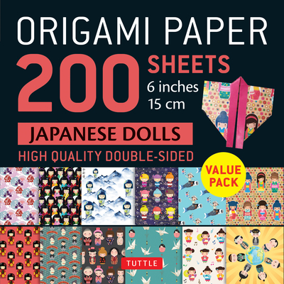 Origami Paper 200 Sheets Japanese Dolls 6