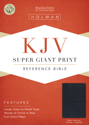 Cover for KJV Super Giant Print Reference Bible, Black Genuine Leather Indexed