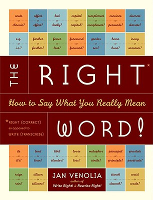 The Right Word! Cover