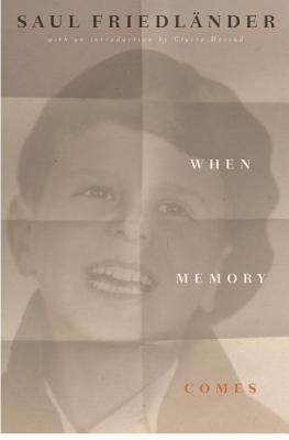 When Memory Comes Cover