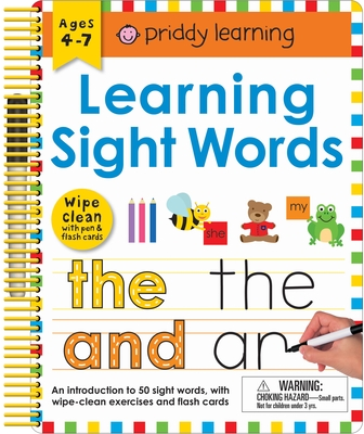 Wipe Clean: Learning Sight Words: Includes a Wipe-Clean Pen and Flash Cards! (Wipe Clean Learning Books) Cover Image