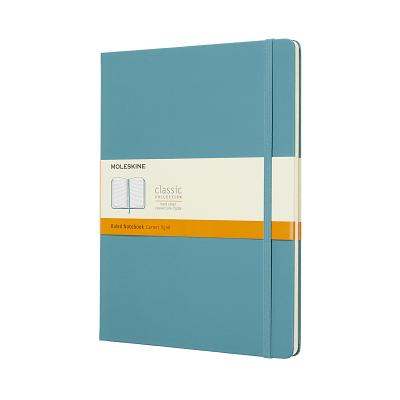 Moleskine Classic Notebook, Extra Large, Ruled, Blue Reef, Hard Cover (7.5 x 9.75) Cover Image