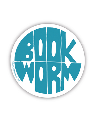 Book Worm (Blue) (Sticker) Cover Image