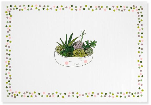 Note Card Succulents Cover Image