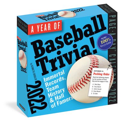 Cover for A Year of Baseball Trivia! Page-A-Day Calendar 2022