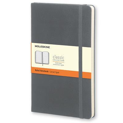 Moleskine Classic Ruled Notebook Large Hard Cover Slate Grey Cover Image