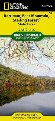 Harriman, Bear Mountain, Sterling Forest State Parks (National Geographic Trails Illustrated Map #756) Cover Image