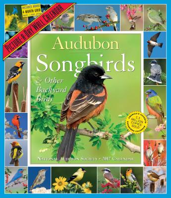 Audubon Songbirds & Other Backyard Birds Picture-A-Day Wall Calendar 2017 Cover Image